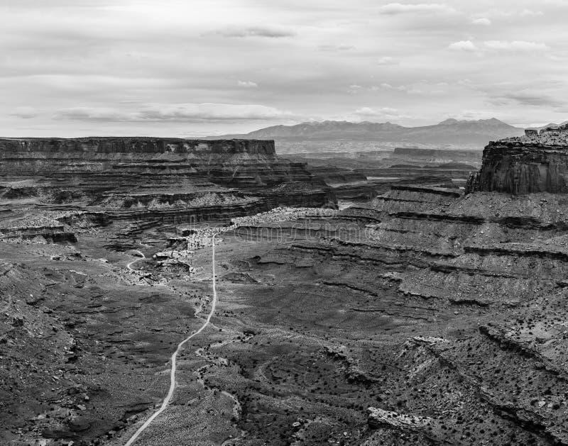 Canyonlands in Zwart & Wit stock afbeelding