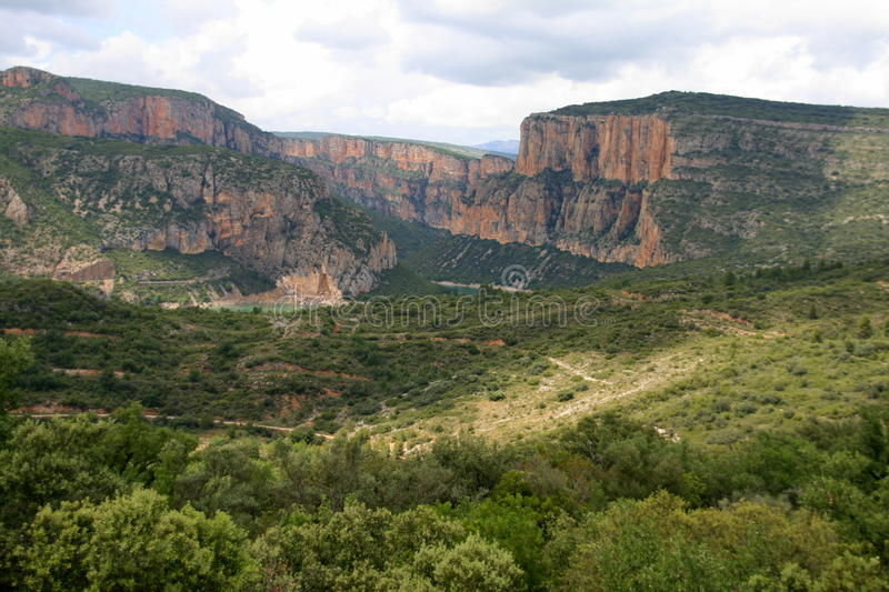 Canyons along the Caramassa reservoir. Catalonia, Spain stock images