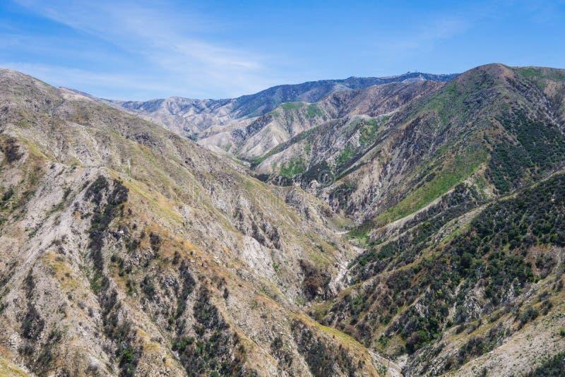 Canyons de montagne de la Californie photographie stock