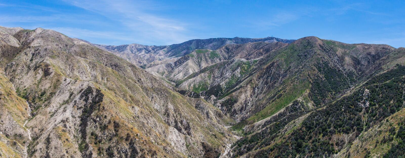 Canyons de montagne de la Californie photos libres de droits