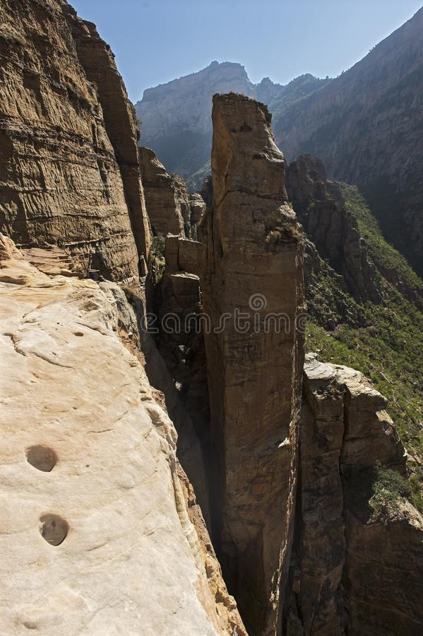 Canyons of the Gheralta Mountains near Hawzien, Tigray, Ethiopia stock photo