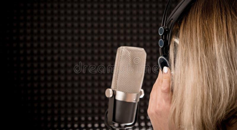 Canzoni che registrano concetto fotografia stock libera da diritti