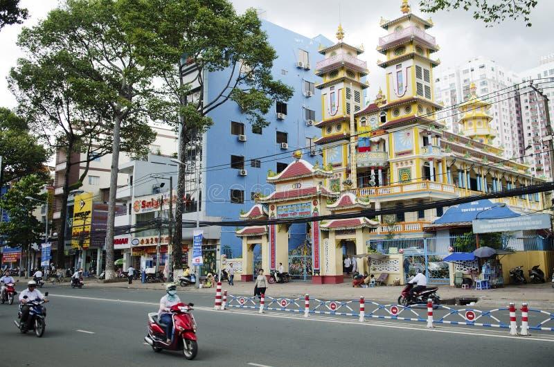 Cao戴寺庙在胡志明市越南 库存照片