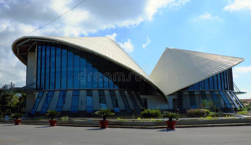 Cao范拉乌剧院,圆锥形帽子大厦 库存照片