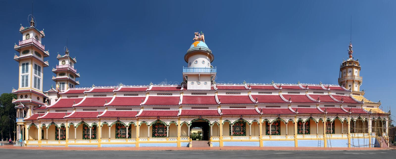 Cao戴寺庙。越南 库存照片