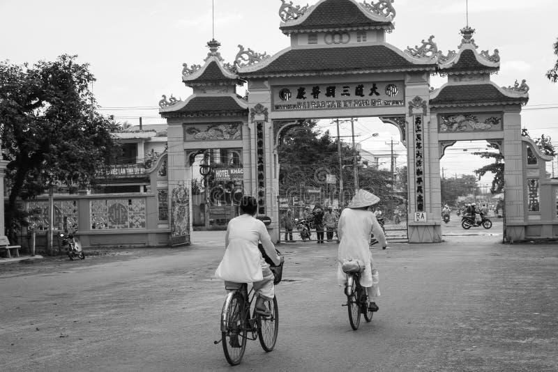 cao戴寺庙越南 库存图片