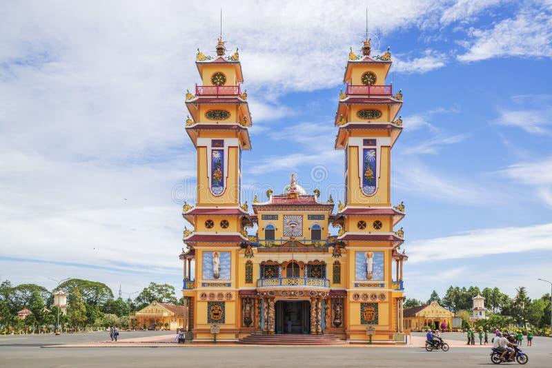 Cao Dai Święty Widzii świątynię, Tay Ninh prowincja, Wietnam zdjęcie stock