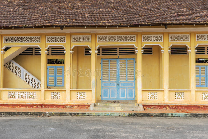 Cao Dai Holy See Temple Tay Ninh landskap, Vietnam royaltyfria foton