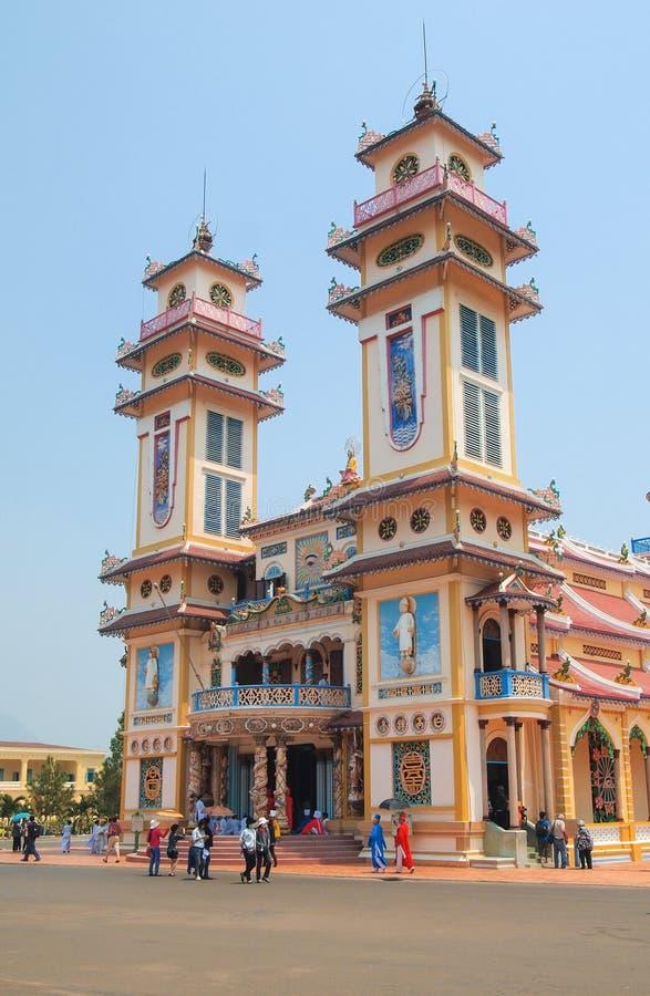 Cao Dai Temple de Tay Ninh photo stock