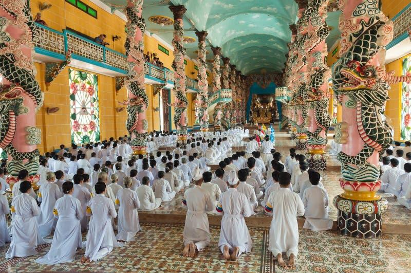 Cao Dai Temple. Ho Chi Minh City. Vietnã imagem de stock