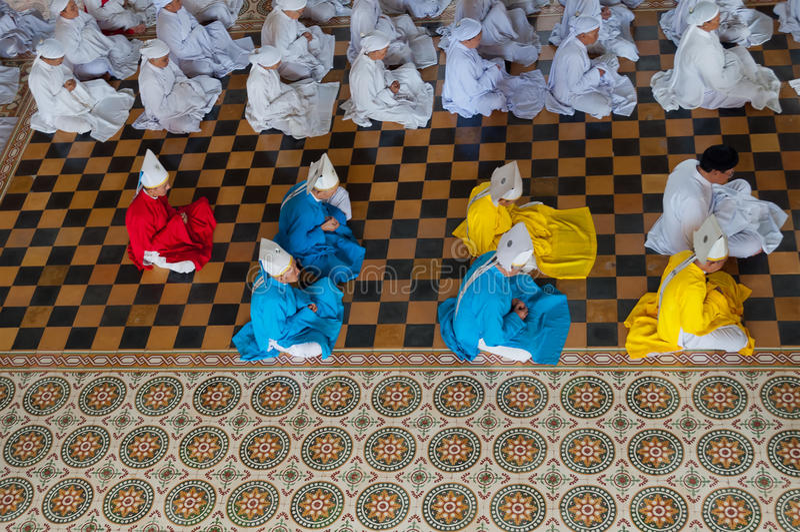 Cao Dai Temple. Ho Chi Minh City. Vietnam images stock