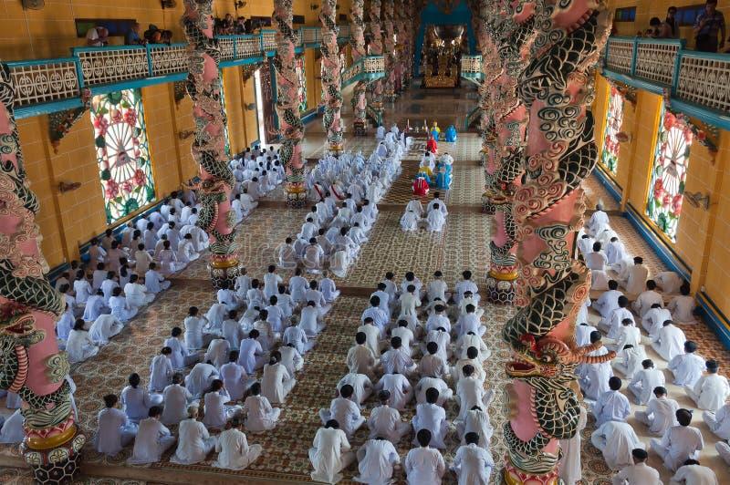 Cao Dai Temple. Ho Chi Minh City. Vietnam photos libres de droits