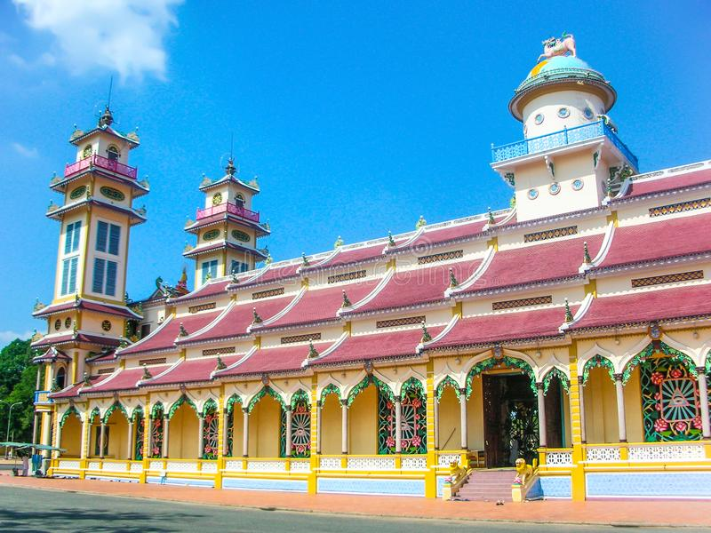 Cao Dai Temple, Tay Ninh, Vietnam stock foto's