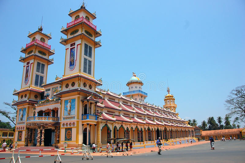 Cao Dai Temple in Tay Ninh, Vietnam royalty-vrije stock foto
