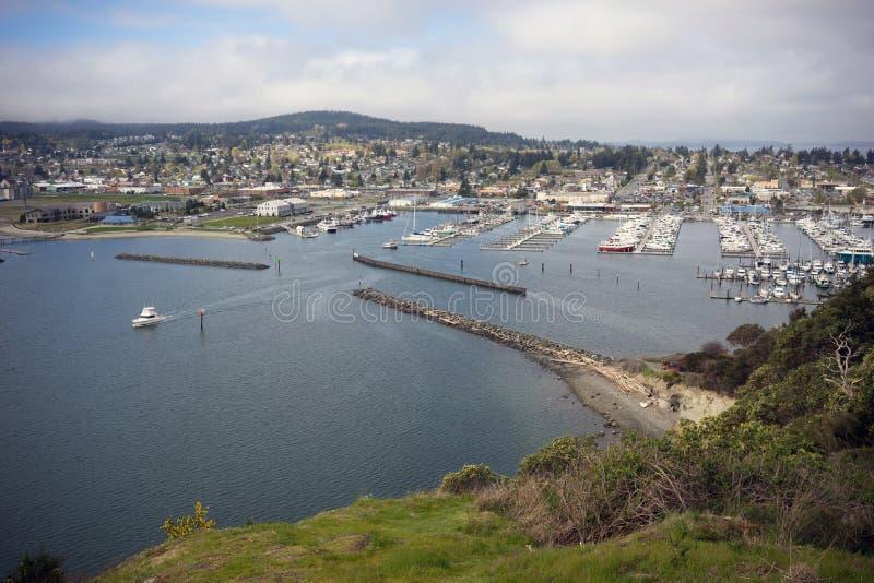 Cao Sante Marina Overlook Puget Sound Anacortes Washington stock afbeeldingen