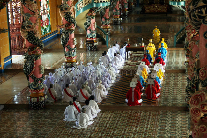 caodaist ceremonia obraz royalty free