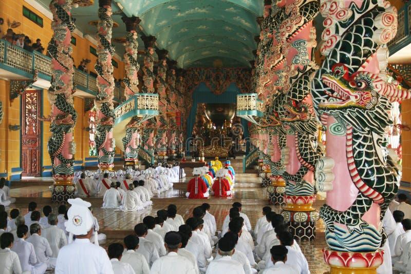 caodaist ceremonia zdjęcie stock