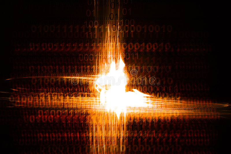 Caos binario illustrazione vettoriale
