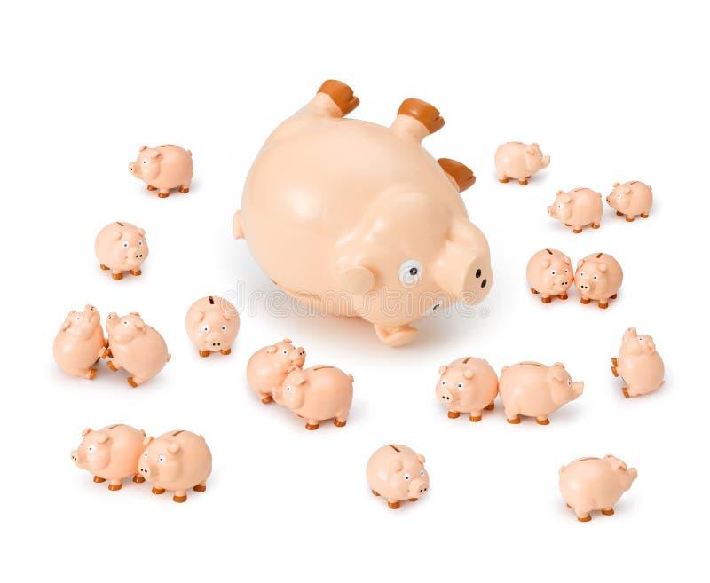 Caos da operação bancária foto de stock