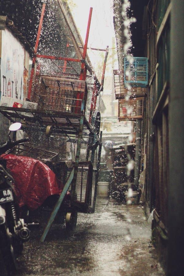 Caos de la causa de la lluvia imagen de archivo libre de regalías