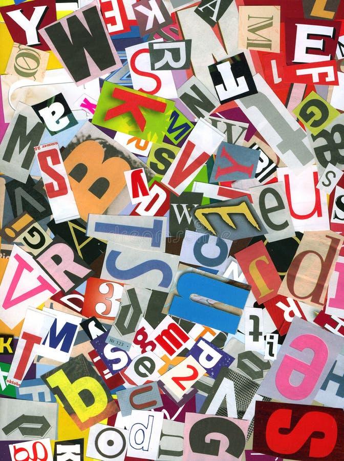 Caos di alfabeto immagini stock