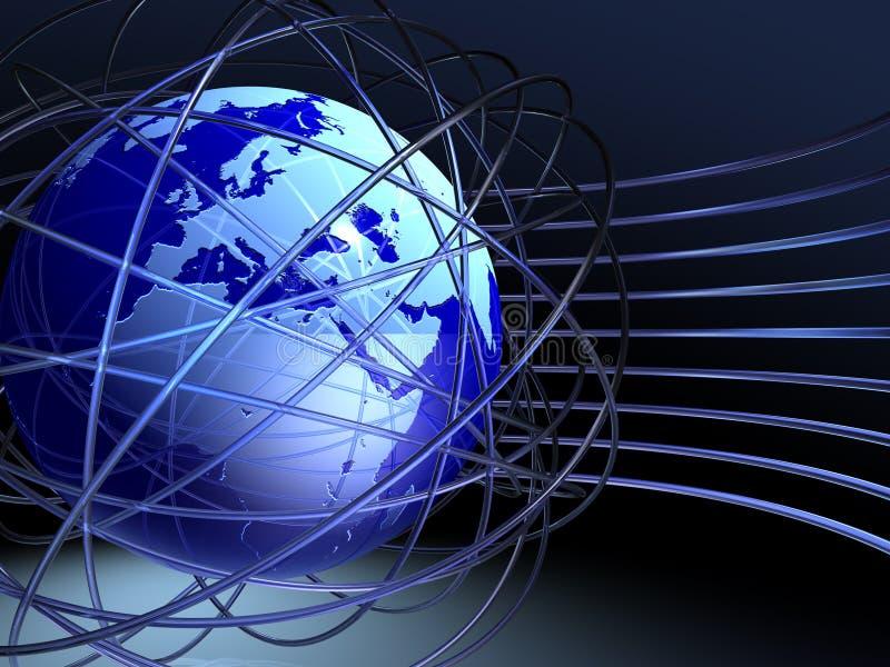 Caos em torno do globo fotografia de stock