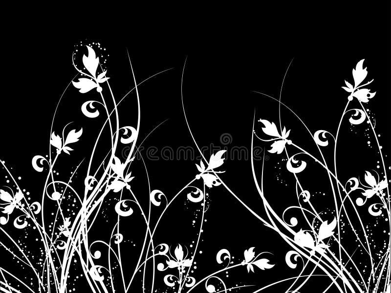 Caos floral ilustração royalty free