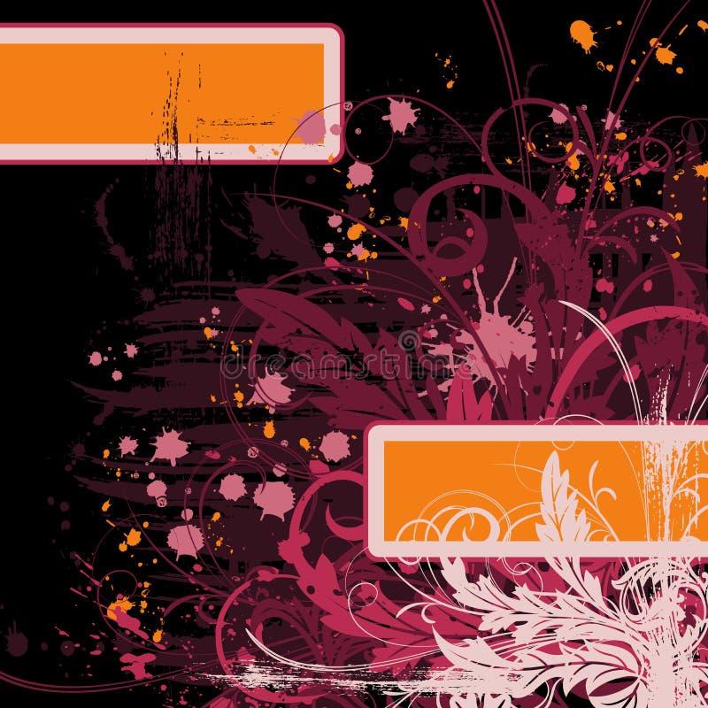 Caos floral abstrato ilustração stock