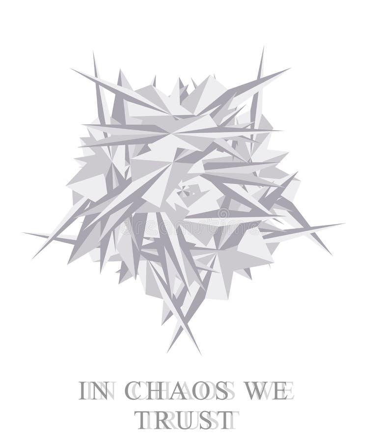 caos metamorfosis ilustración del vector