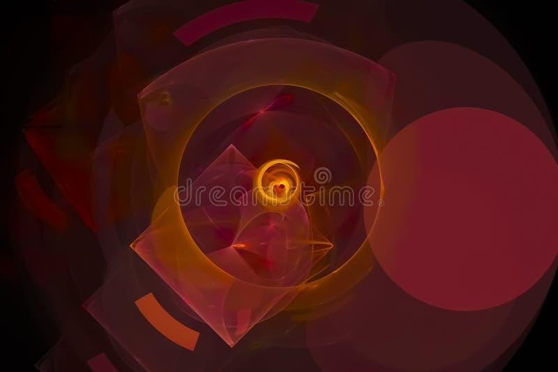 Caos vibrante di progettazione di turbinio di moto di effetto creativo astratto della fiamma royalty illustrazione gratis