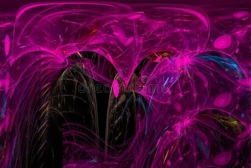 Caos vibrante hermoso del poder de la fantasía digital abstracta del fractal libre illustration