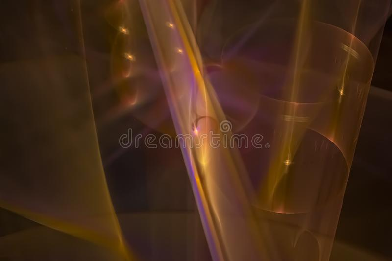 Caos vibrante scuro di progettazione grafica dell'estratto di energia di frattale surreale digitale di colore bello illustrazione vettoriale