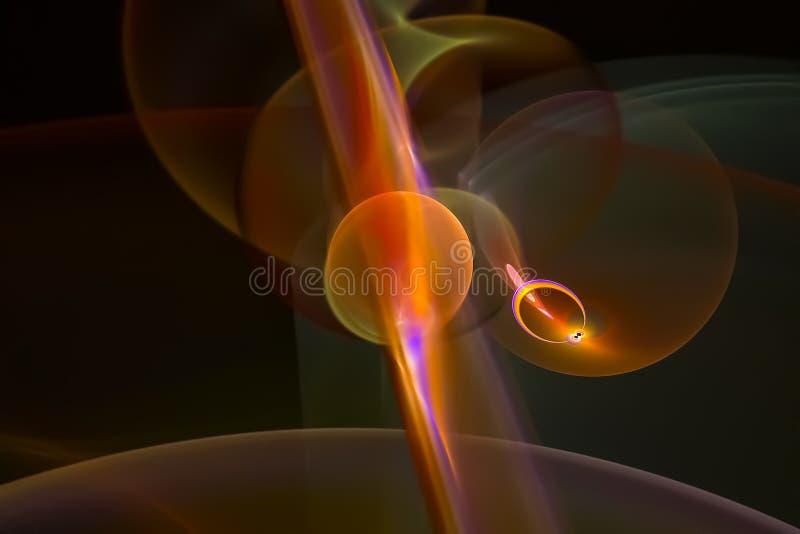 Caos vibrante scuro di progettazione grafica dell'estratto di energia di lustro di frattale surreale digitale di colore bello illustrazione di stock