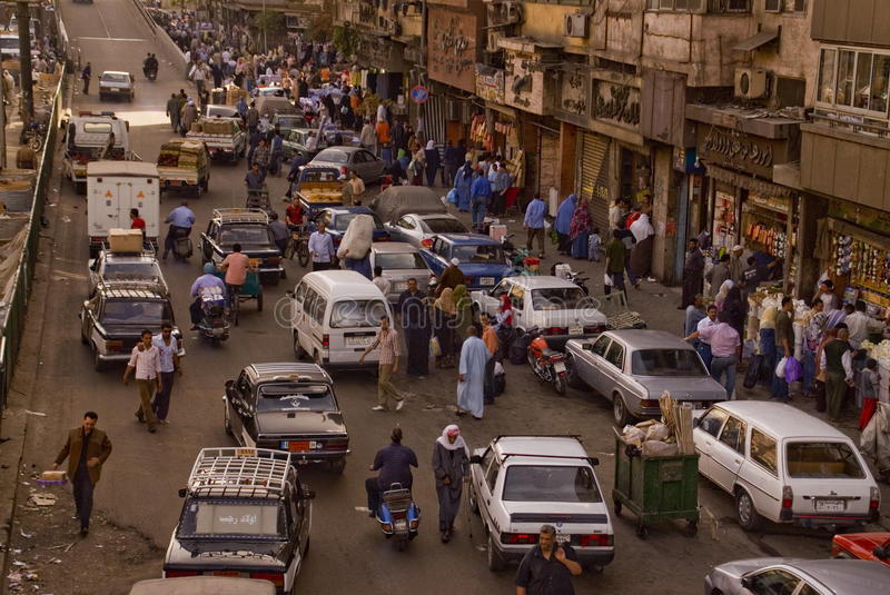 Download Caotic Traffic Jam In A Market In Cairo Editorial Image - Image: 20632480
