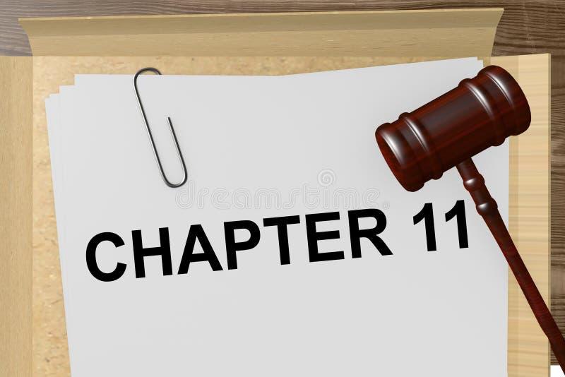 Capítulo 11 ilustração do vetor