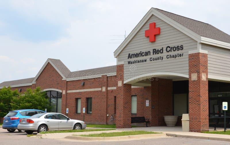 Capítulo americano del condado de Washtenaw de la Cruz Roja imagen de archivo libre de regalías
