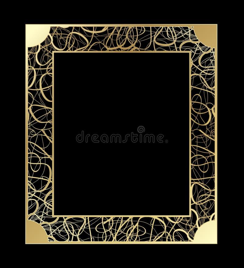 Capítulo a cielo abierto del oro del vintage Vector decorativo con el lugar para el texto EPS 10 libre illustration