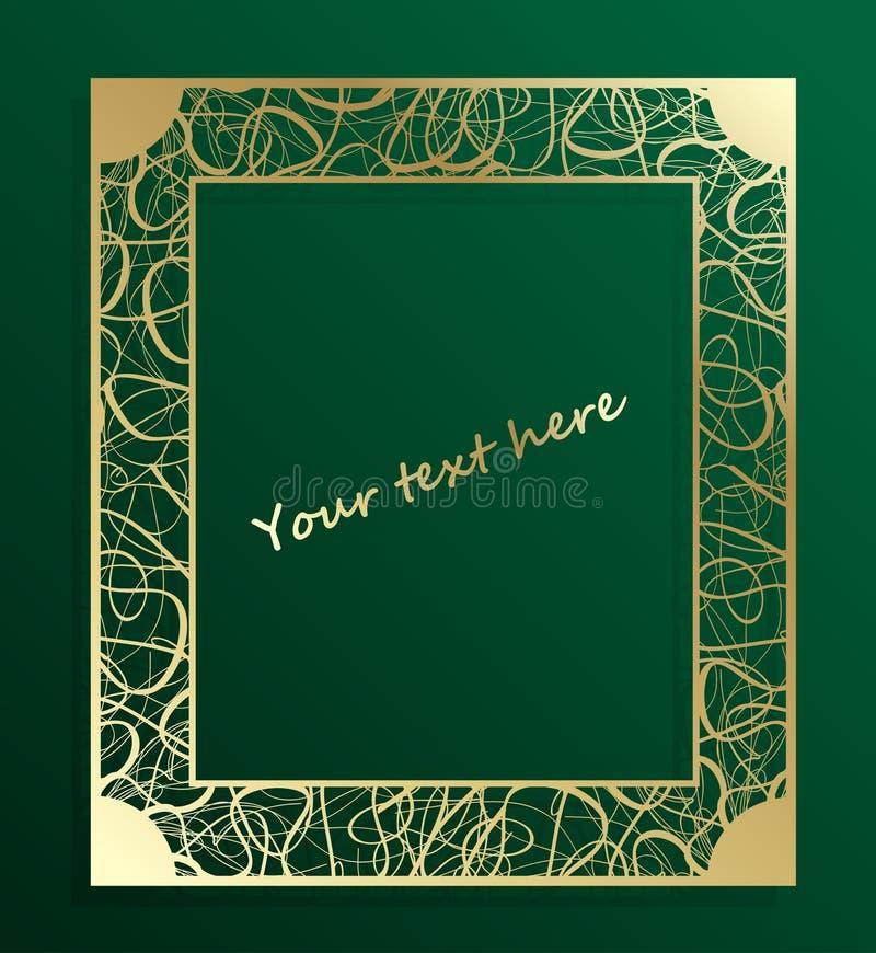 Capítulo a cielo abierto del oro del vintage Vector decorativo con el lugar para el texto EPS 10 stock de ilustración