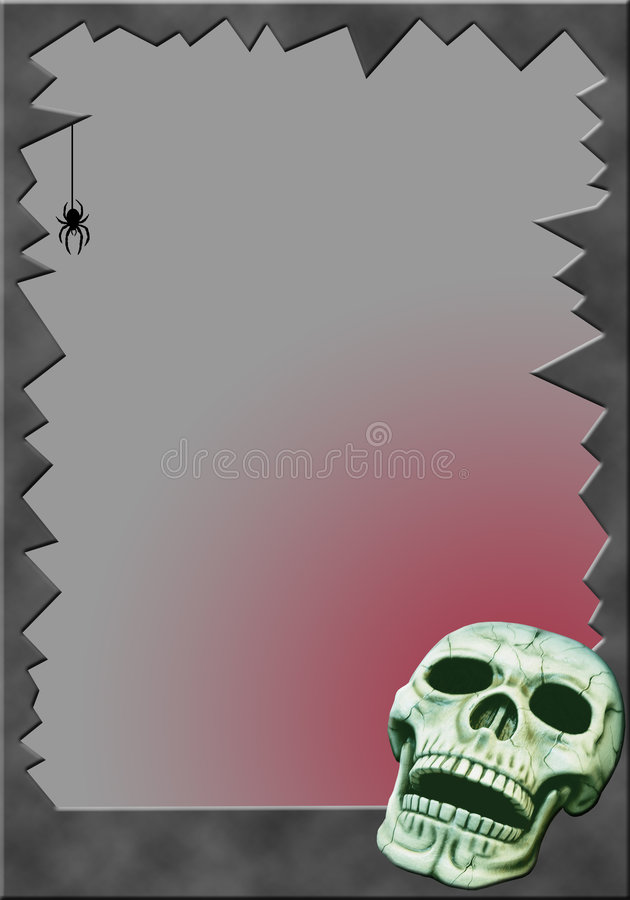 Capítulo con el cráneo ilustración del vector