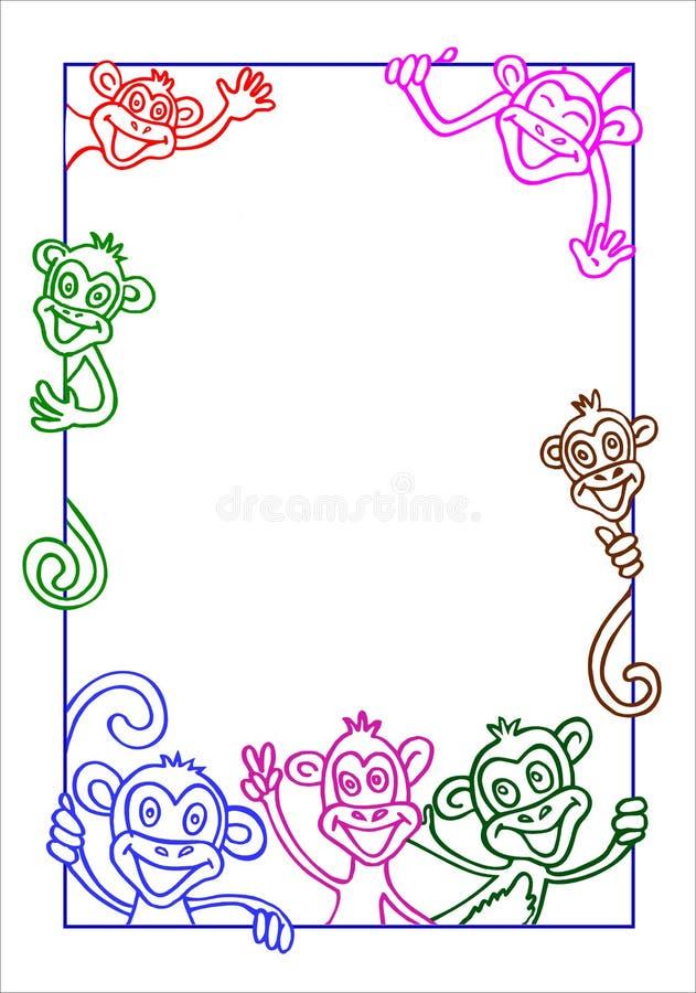 Capítulo con el mono ilustración del vector