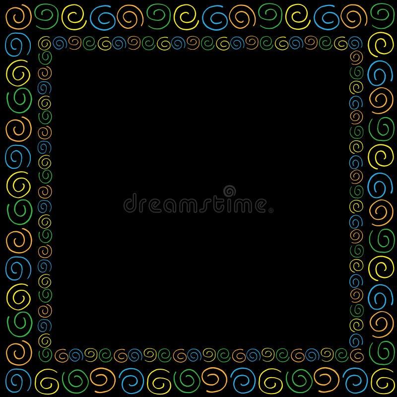 Capítulo con florituras coloreadas ilustración del vector