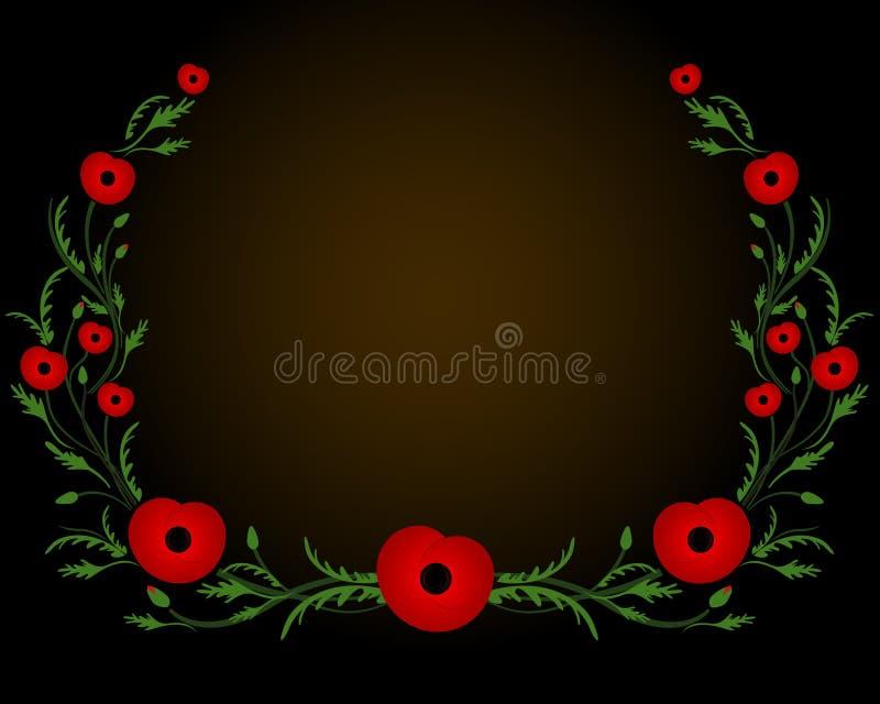 Capítulo con la amapola roja Segunda Guerra Mundial, símbolo conmemorativo libre illustration