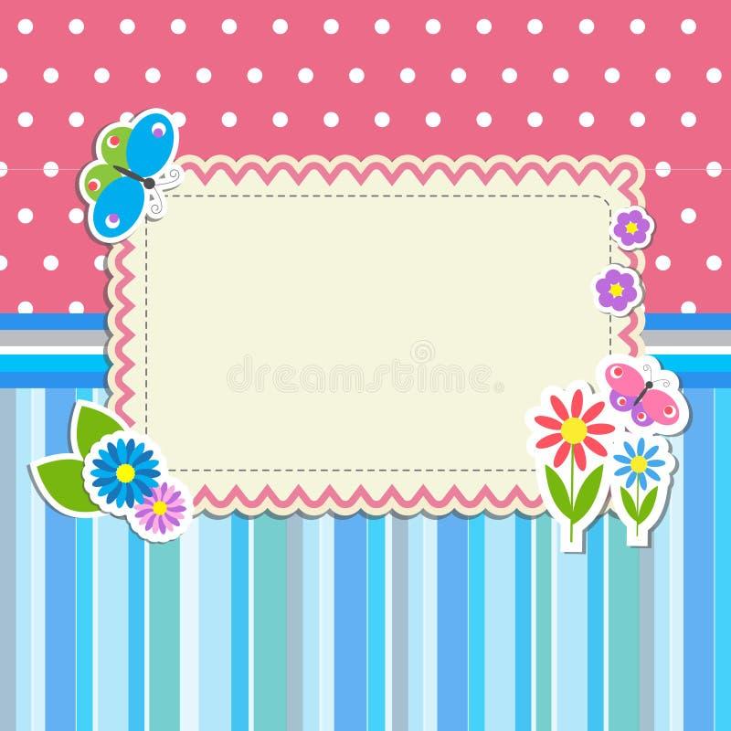 Capítulo con las flores y las mariposas libre illustration