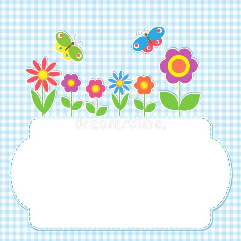 Capítulo con las flores y las mariposas ilustración del vector