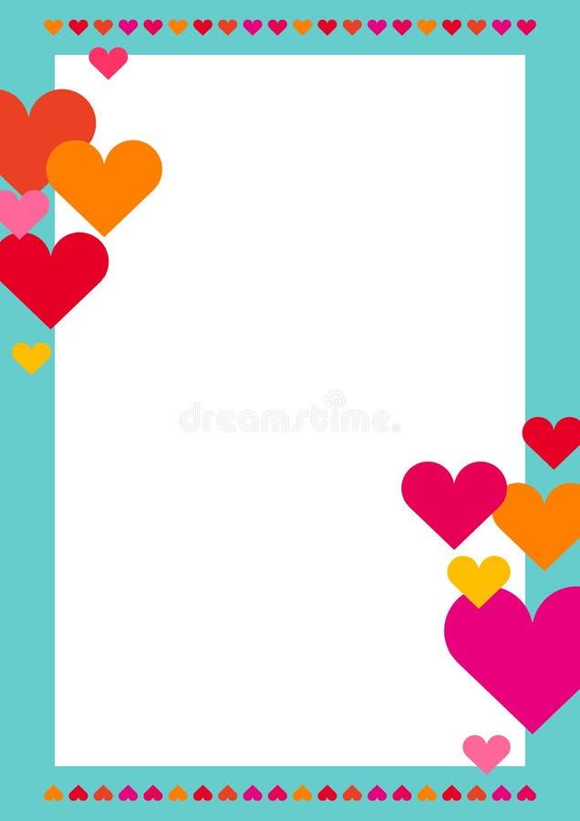 Capítulo con las porciones de corazones ilustración del vector