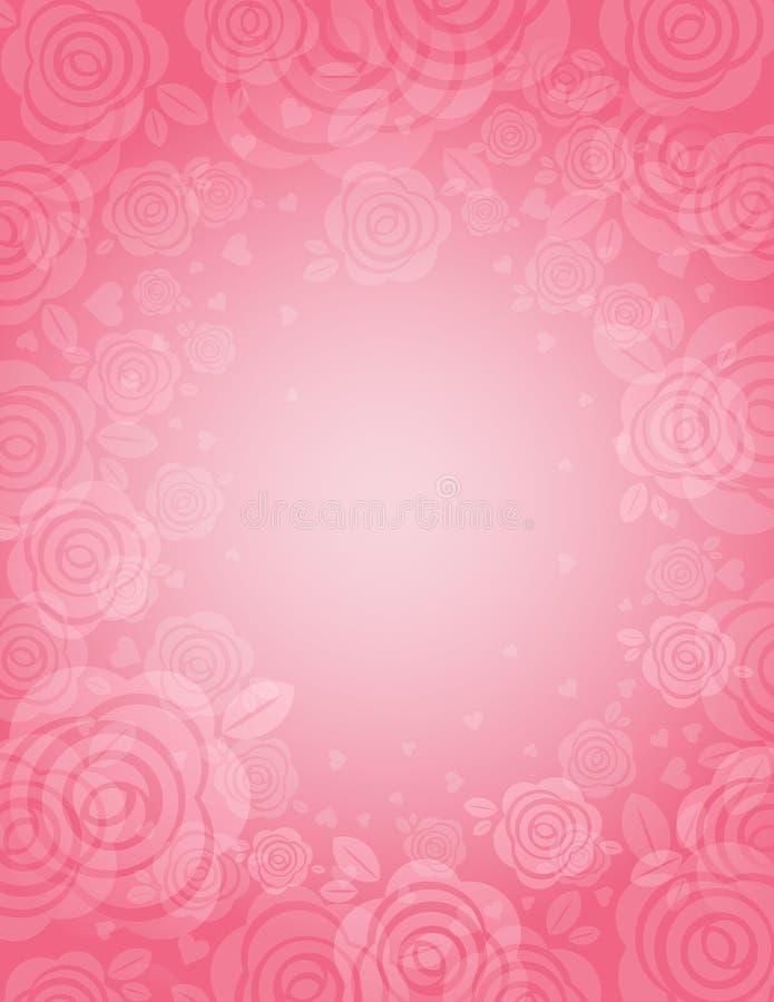 Capítulo con las rosas rosadas libre illustration