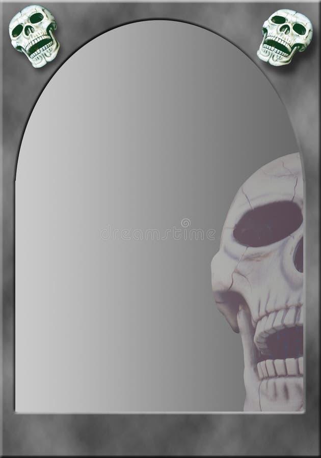 Capítulo con los cráneos ilustración del vector