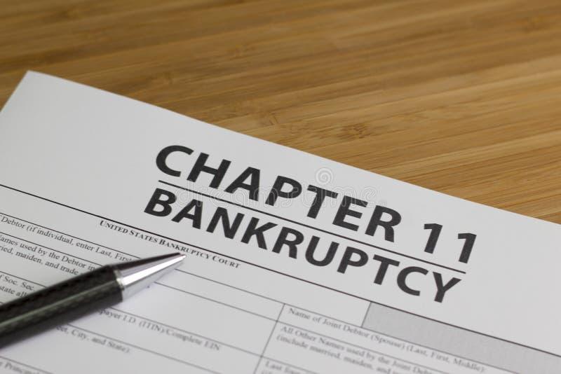 Capítulo 11 da falência imagem de stock royalty free