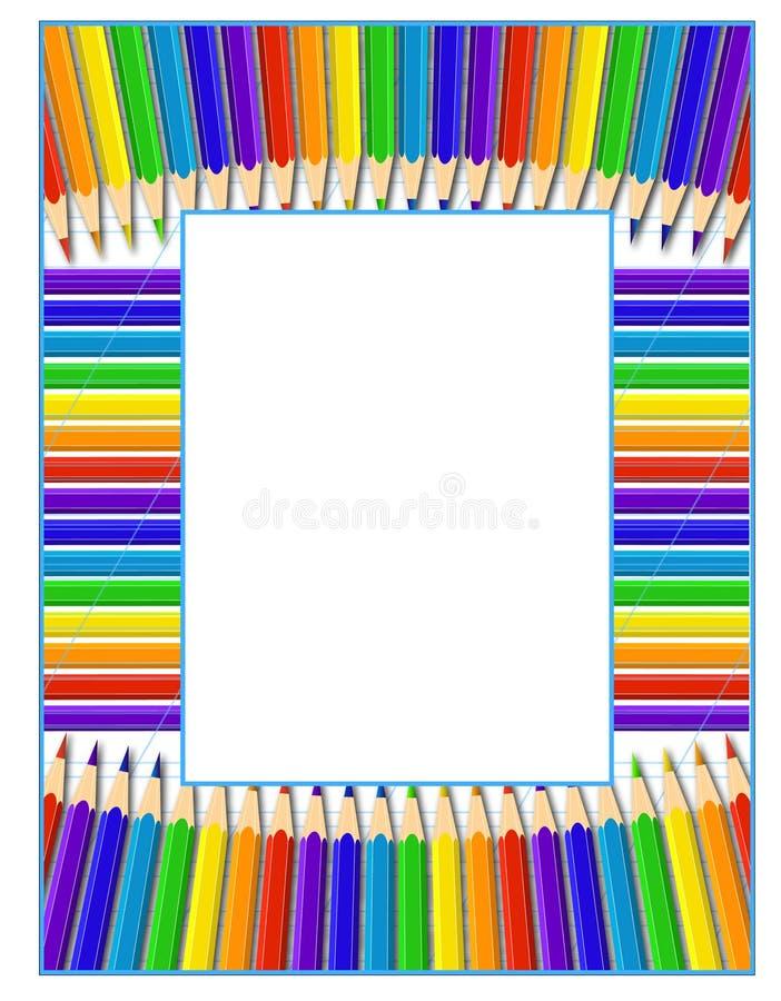 Capítulo de lápices ilustración del vector