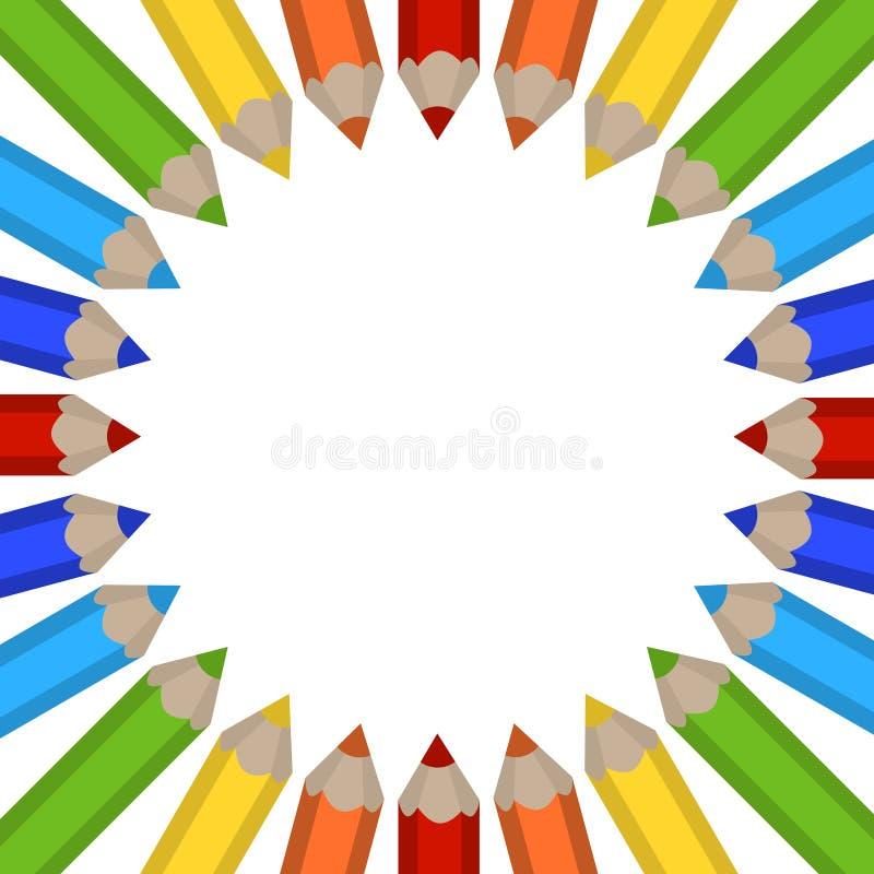 Capítulo de lápices coloreados ilustración del vector
